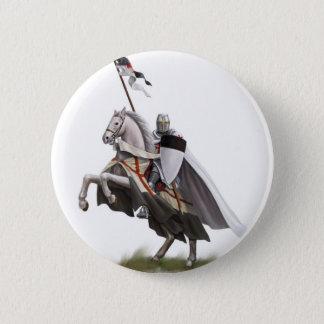 取付けられた騎士Templar 5.7cm 丸型バッジ