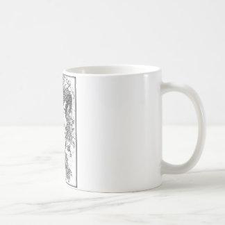 取付けられる白の鉛筆のスケッチを刺しました コーヒーマグカップ