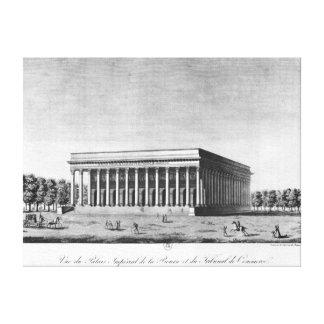 取引所帝国宮殿の眺め キャンバスプリント