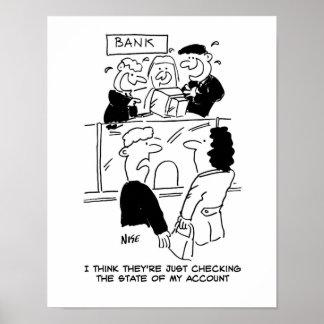 取引。 銀行口座の州の点検 ポスター