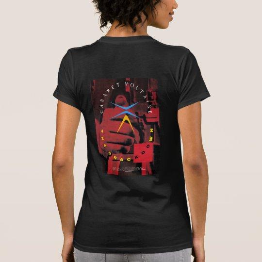 取締りの前部及び背部 Tシャツ