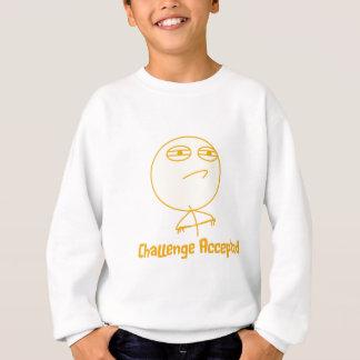 受け入れられる挑戦(オレンジで!) スウェットシャツ