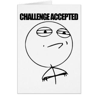 受け入れられる挑戦 カード