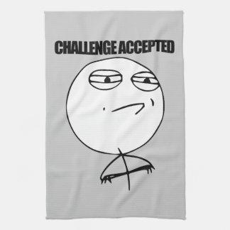 受け入れられる挑戦 キッチンタオル