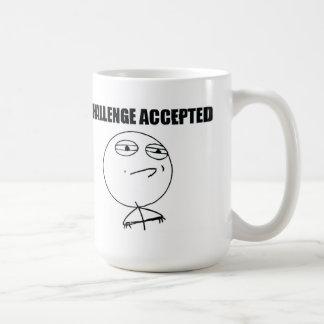 受け入れられる挑戦 コーヒーマグカップ