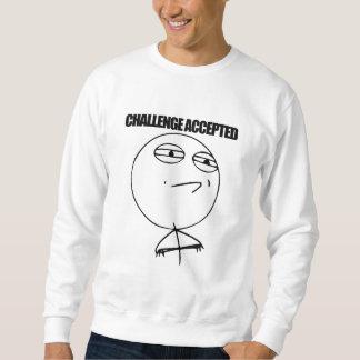 受け入れられる挑戦 スウェットシャツ