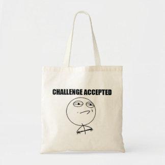 受け入れられる挑戦 トートバッグ