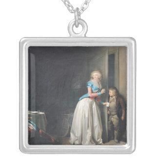 受け取られる訪問1789年 シルバープレートネックレス