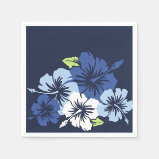 叙事詩のハイビスカスのハワイ州人の花柄 スタンダードカクテルナプキン