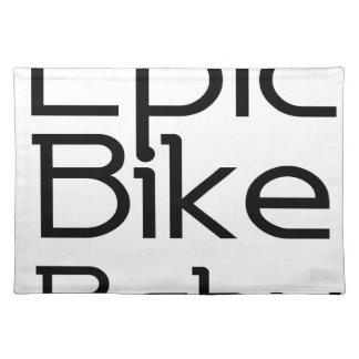 叙事詩のバイクのベビー ランチョンマット