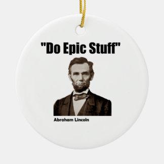 叙事詩の物エイブラハム・リンカーンをして下さい セラミックオーナメント