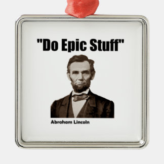 叙事詩の物エイブラハム・リンカーンをして下さい メタルオーナメント
