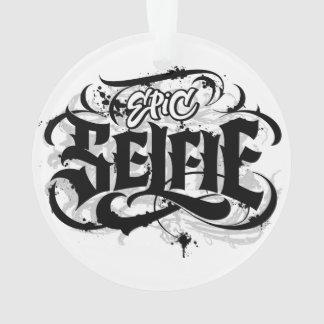 「叙事詩のSelfie」のレタリングの入れ墨のクリスマスの装飾 オーナメント