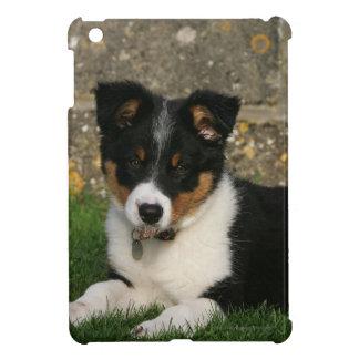 口の葉を持つボーダーコリーの子犬 iPad MINI CASE