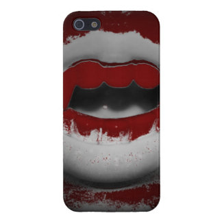 口の血の吸血鬼の牙を開けて下さい iPhone 5 ケース