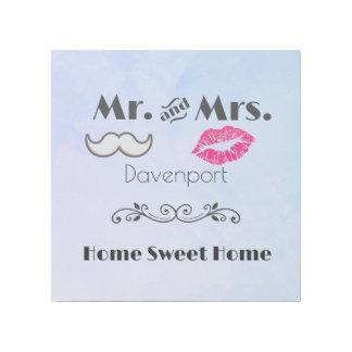 口ひげおよびHome Sweet Home唇氏および夫人 ギャラリーラップ