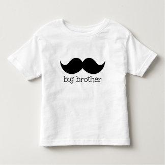 口ひげが付いているお兄さんのワイシャツ、 トドラーTシャツ