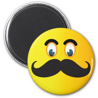 口ひげのスマイリーの磁石 マグネット