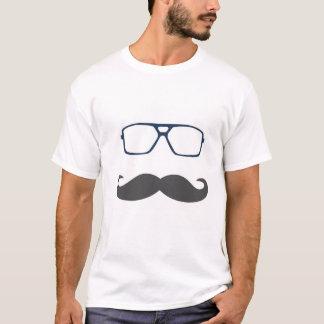 口ひげのワイシャツ Tシャツ