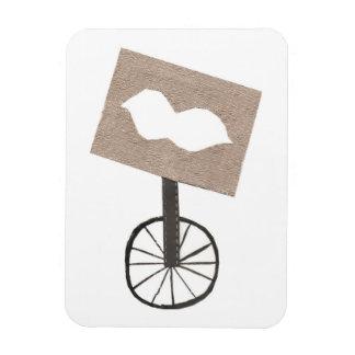 口ひげの一輪車の写真の磁石 マグネット