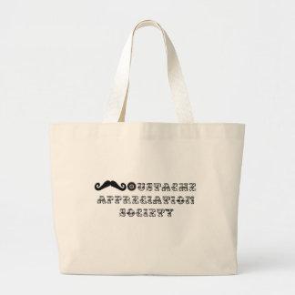 口ひげの感謝の社会のヴィンテージ ラージトートバッグ