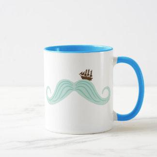 口ひげの波 マグカップ