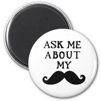 口ひげの磁石は私のStacheについて私に尋ねます マグネット