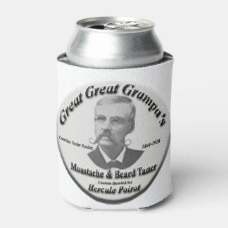 口ひげ及びひげのより飼いならされた飲み物の覆いのcoozie- 缶クーラー