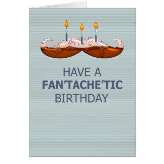 口ひげ/髭のFan'tache'ticのお誕生日ケーキ カード