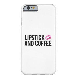 口紅およびコーヒー電話箱 BARELY THERE iPhone 6 ケース