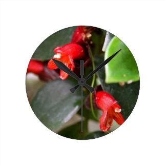 口紅のつる植物の柱時計 ラウンド壁時計
