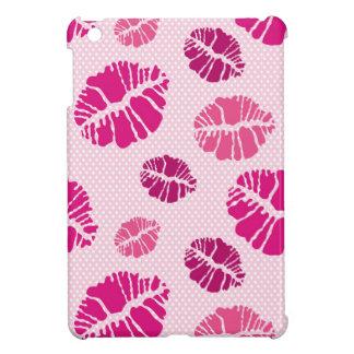 口紅のキスの形のプリントパターン iPad MINI カバー