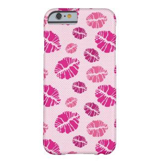 口紅のキスの形パターン BARELY THERE iPhone 6 ケース
