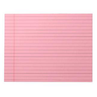 口紅のピンクによって並べられるメモ帳 ノートパッド