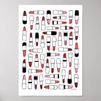 口紅のプリント ポスター
