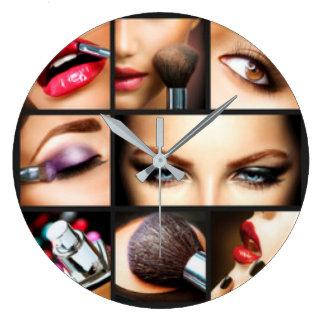 口紅の化粧のファッションのデザイン ラージ壁時計