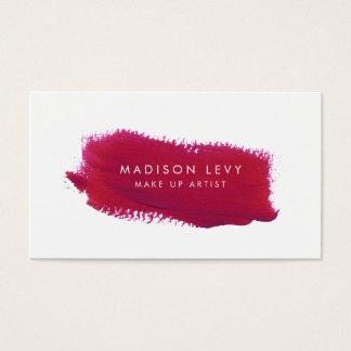 口紅の材料見本は芸術家の名刺を構成します スタンダード名刺