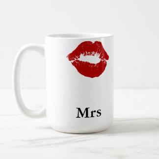 口紅の汚れ夫人 コーヒーマグカップ