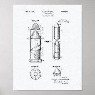 口紅の箱1952のパテントの芸術の白書 ポスター