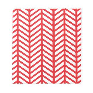 口紅の赤いシェブロンのフォルダー ノートパッド