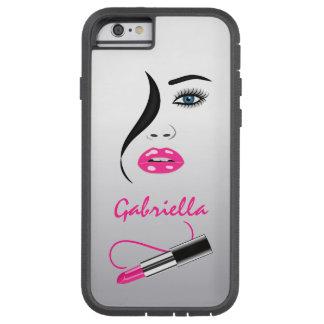 口紅の鏡のXtremeのピンクのiPhoneに6つの6Sケース直面して下さい Tough Xtreme iPhone 6 ケース