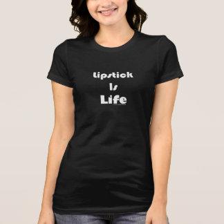 口紅は生命化粧のTシャツです Tシャツ