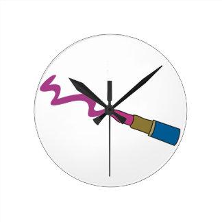 口紅 ラウンド壁時計