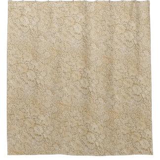 古いかぎ針編みのレースの花柄パターン + あなたのアイディア シャワーカーテン