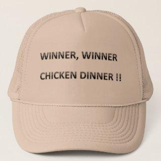 古いことわざ、勝者の勝者の鶏の夕食 キャップ