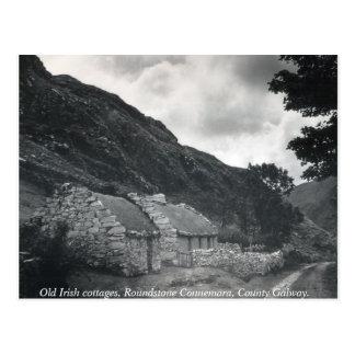 古いアイルランドのかやぶきにされたコテッジ、ゴールウェイアイルランド ポストカード