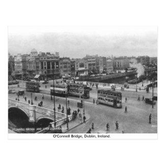 古いアイルランドの30年代のO'Connell橋、ダブリン ポストカード