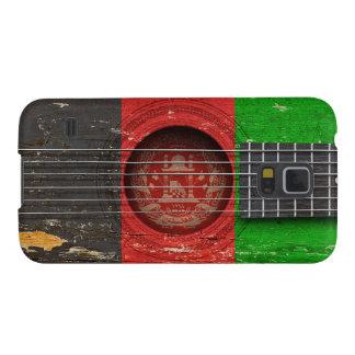 古いアコースティックギターのアフガニスタンの旗 GALAXY S5 ケース