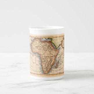 古いアフリカの地図 ボーンチャイナカップ