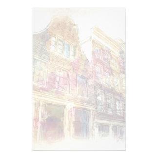 古いアムステルダムの通り 便箋
